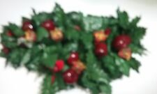 Pretty Christmas Plastic Swag Candle Holder / Centerpiece