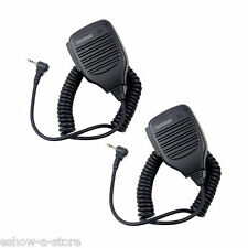 2X 1Pin 2.5mm Handheld Speaker Mic Anti-wrestling for Motorola T6500 FR50/60 GT