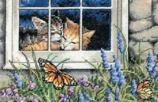 Dimensions Gold Collection Petites Cat Cross Stitch Kit Feline Love