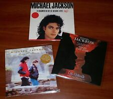 "MICHAEL JACKSON 3x HOLLAND 7"" VINYL Lot SCREAM CHILDHOOD GONE TO SOON BAD PROMO"