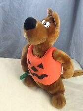 "Scooby Doo Plush Halloween Shirt 13"" Brown Stuffed Animal Toy Trick or Treat"
