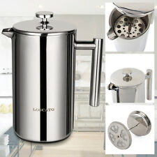 French Press 8 Cup Coffee Maker Stainless Steel Double Wall Brushed Cafetiere