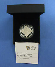 "2008 Silver Proof £5 Crown coin ""Elizabeth 1st"" in Black case with COA (R2/68)"