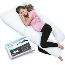 PharMeDoc Total Body Pillow w/ Extra Cover (2 Covers Total) - U-Shaped Maternity