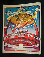 UFO Dimensions Time Space Warp Show Haight St. San Francisco Poster (C-4) 1960's