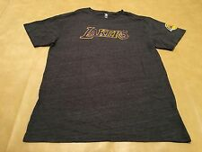 NWT Adidas Men's XL Los Angeles Lakers Gray Short Sleeve Shirt NBA