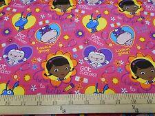 "1 yard Disney  Doc Mcstuffins ""Big Book of Boo Boos"" Toss  Fabric"