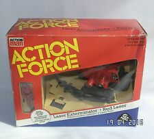 Azioni FORCE ROSSO ombra LASER Exterminator & Rosso Laser Boxed Palitoy MINT GI Joe