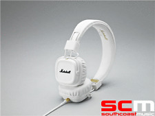 MARSHALL MAJOR II WHITE STEREO HEADPHONES HEAD PHONES EARPHONES