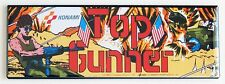 Top Gunner Marquee FRIDGE MAGNET (1.5 x 4.5 inches) arcade video game header