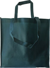 Set of 12 EXTRA LARGE FOREST GREEN GROCERY SHOPPING REUSABLE NON WOVEN TOTE BAG