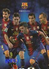 Fc barcelona la + Stars 2012/2013 + FCB + gigantes foto coleccionista + 29,5x21,0 cm