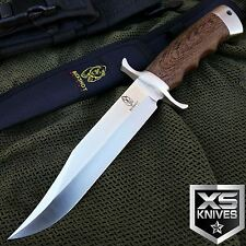 "BUCKSHOT 12"" FIXED BLADE Hunting Wooden Handle SURVIVAL Knife BOWIE w/ Sheath"