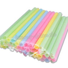 33Pcs Multicolour Milkshake Jumbo Smoothie Thick Drink Drinking Straw Party Hot