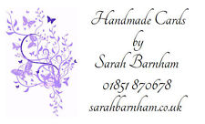 260 Personalised Labels Lilac Butterfly design / Address / handmade by / cards