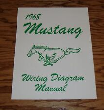 1968 Ford Mustang Wiring Diagram Manual Brochure 68