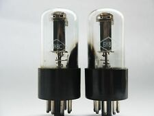 6N8S - 6SN7 MATCHED PAIR STRONG Double Triode NOS NEW FOTON 1950-60 MILITARY