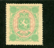 Poster Stamp Label FINLAND PENNIA SUOMI PENNI Coat of Arms Lion w sword