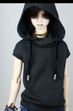 Cool Sleeveless Hoodies T Shirt for BJD 1/4,1/3  SD17 Uncle Doll Clothes CMB7
