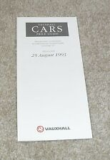 Vauxhall Price Guide 1993 - Corsa GSI Cavalier Turbo 4X4 Lotus Carlton Calibra