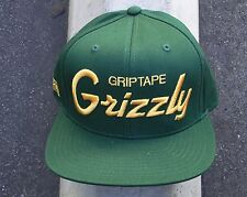 SEASONED GRIZZLY GRIPTAPE SUPPLY CO. GREEN SNAPBACK HAT