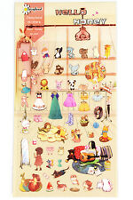 1 sheet baby shower party doll house plush animal craft scrapbooking stickers