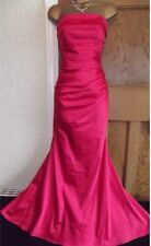 EXQUISITE ❤️ JANE NORMAN Size 8 Pink Long £65 Mermaid Dress Ball Prom Gown
