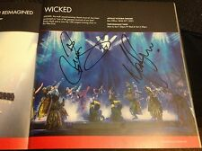 West End Live SIGNED Prog 2015 Louise Dearman, Mark Evans, Wicked.