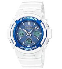 Casio G Shock * AWGM100SWB-7A Solar Multiband Blue Face White GShock COD PayPal