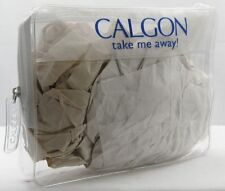 Lot of 12 Clear CALGON Zippered Cosmetic Bags