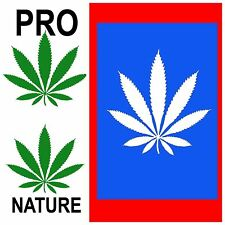 3 STICKERS | Weed 420 Marijuana Decal Decor Protest