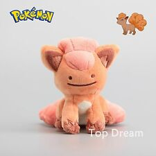 Pokemon Vulpix Transform Ditto Metamon Plush Toy Soft Stuffed Animal Doll 5''