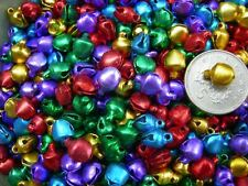 100! GREAT VALUE DECORATIVE METALLIC MIXED COLOUR CHRISTMAS BELLS!