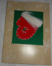 NEW Set of 4 Christmas / Holiday Cards Handmade-Style Red Mittens