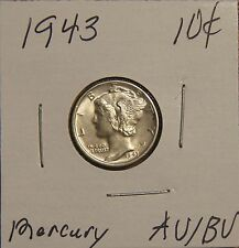 1943 Mercury Dime- About Uncirculated To Brilliantly Uncirculated