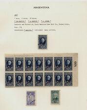 Argentina  86-88  high value specimens  #87 block of  14