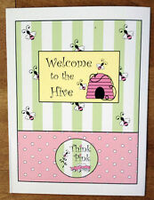 "5 Color 9""x12"" ""Think Pink"" Welcome To The Hive Bee Presentation Folder Mary Kay"