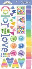 Doodlebug Design COLOR OF LOVE Stickers Scrapbooking Paper Crafts Cardmaking
