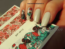 BORN PRETTY BP-W12 Mixed Flower Nail Art Manicure Water Decals Transfer Decorate
