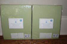 Set/2 NWT Pottery Barn Kids Sailcloth blackout drape curtain panels green 44x84