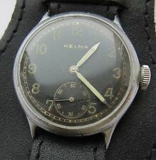 Wristwatch German Army Wehrmacht HELMA  DH of period WWII. Military.