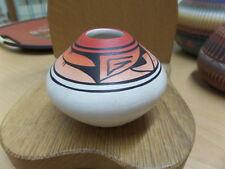 "Jones Navajo Indian Pottery Vase 2.5"" high x 3.5"" at widest point"