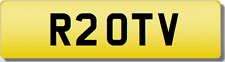 TV INITIALS  Private CHERISHED Registration Number.Plate OTV #TRANSFER FEES INC#