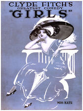 """16x20""""Decoration Poster.Interior room design art.Clyde Fitch Girls comedy.6634"""
