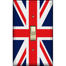 Union Jack Flag Great Britain - Single Decorated Light Switch Cover - DS-111