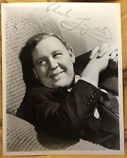 CHARLES LAUGHTON Signature Stamp Signed Photo OWNED by Wife ELSA LANCHESTER