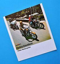 1975 Harley Brochure XL XLCH Sportster FX FXE Super Glide FLH Electra Glide
