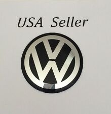 "1Pc 3D Aluminum 90Mm/3 1/2"" VW Wheel Center Caps Sticker Passat Golf Jetta"