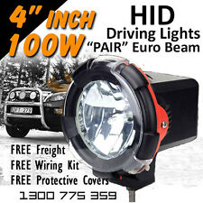 HID Xenon Driving Lights - Pair 4 Inch 100w Euro Beam 4x4 4wd Off Road 12v 24v