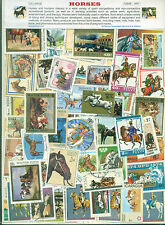 Horses (100Different Large)-STAMP PACKET